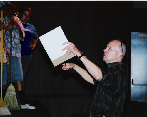 Rehearsing Electricidad 2005 at California State University, Bakersfield