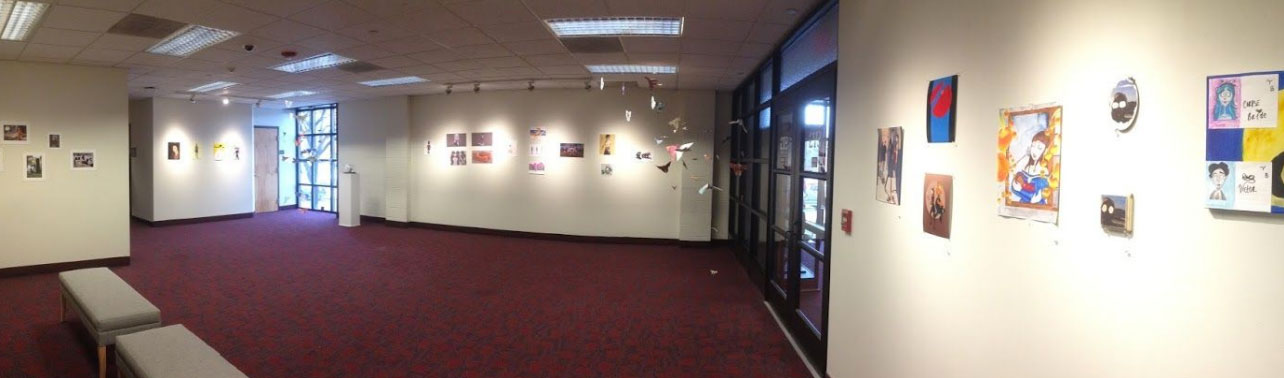 Pieces of wall of Gallery for the Comic con exhibit